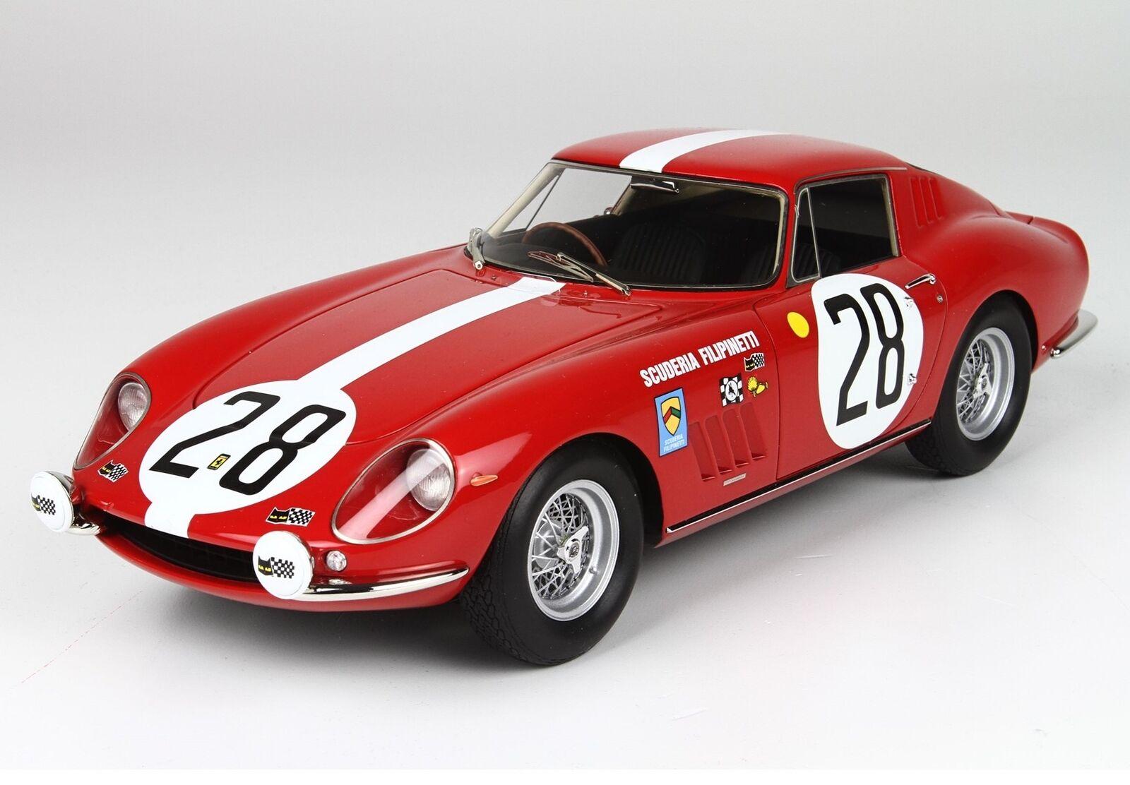 Ferrari 275 Gtb Team Scuderia Filipinetti 28 Le Mans 1967 BBR 1:18 BBR1828