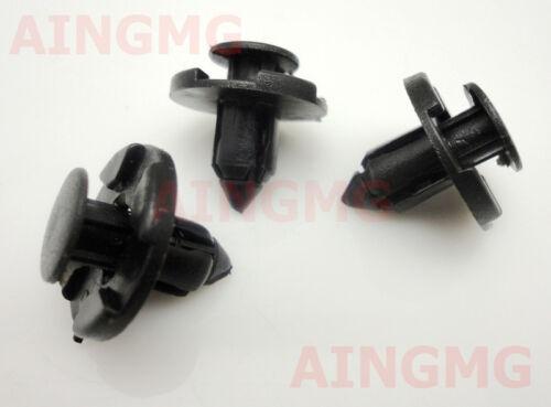 30 Pcs Plastic Rivet Fastener Bumper Mud Flaps Push clips Fit Nissan 01553-09321