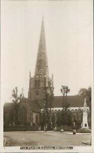 Postcard Parish Church Solihull Warwickshire Birmingham unposted Real Photo - Rossendale, United Kingdom - Postcard Parish Church Solihull Warwickshire Birmingham unposted Real Photo - Rossendale, United Kingdom