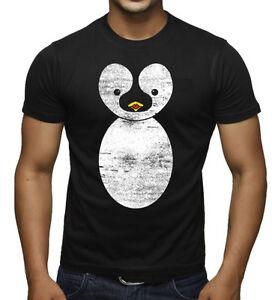 Men-039-s-Cute-Cartoon-Penguin-Black-T-Shirt-Adorable-Funny-Animals-Novelty-Gift-Tee