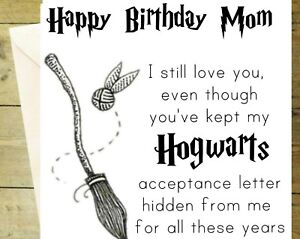 Enjoyable Happy Birthday Mom Harry Potter Funny Hogwarts Card Black And Funny Birthday Cards Online Overcheapnameinfo