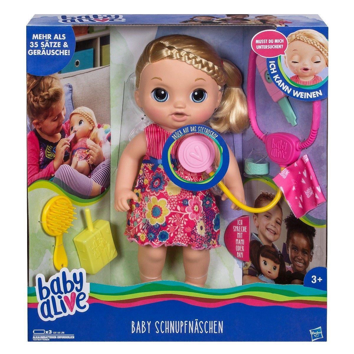 Orig. Hasbro >>> Baby Alive Schnupfnäschen <<< 35 cm / DEUTSCH