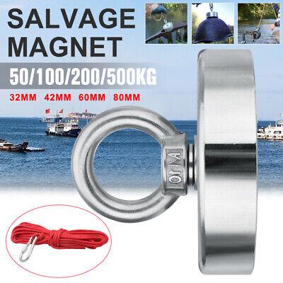 Neodym Bergemagnet Suchmagnet zum Magnet Angeln 50KG bis 500KG Magnet Fischen