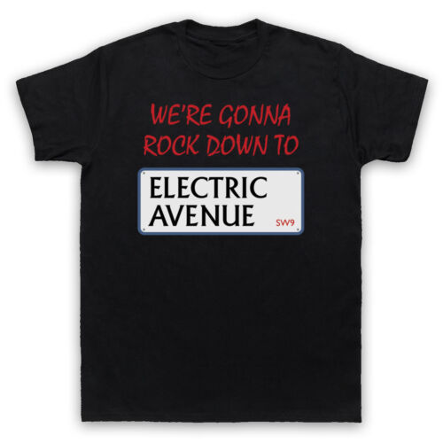 ELECTRIC AVENUE STREET SIGN BRIXTON LONDON 80/'S POP T-SHIRT ADULTS /& KIDS SIZES
