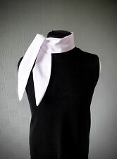 White cotton rockabilly scarf,  white retro vintage style scarf, 50's scarf