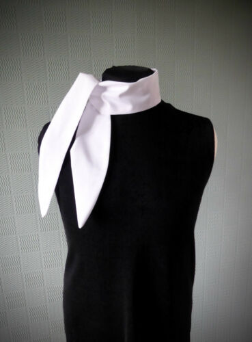 White cotton rockabilly scarf white retro vintage style scarf 40/'s scarf tie up