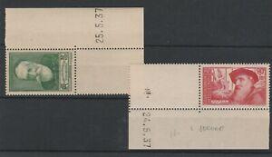 FRANCOBOLLI-1937-FRANCIA-PRO-INTELLETUALI-2-VALORI-MNH-E-1604