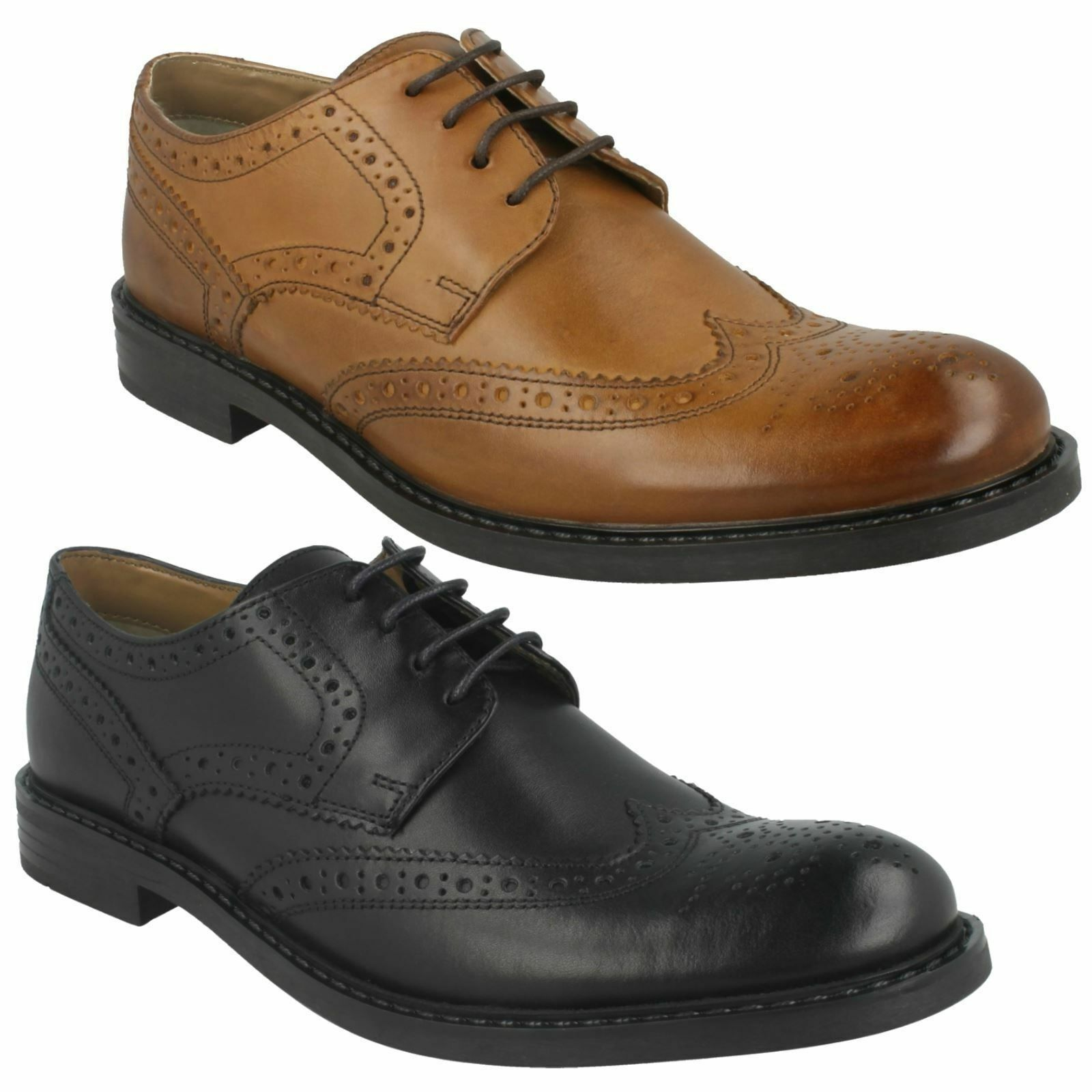 MENS BASE LONDON MAIN MTO LACE UP FORMAL OFFICE LEATHER BROGUES SMART SHOES