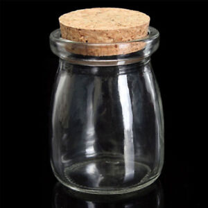 d66d0571b49b Details about 100ML Small Clear Display Glass Jar Bottle Wish Vial  Container with Cork Stopper