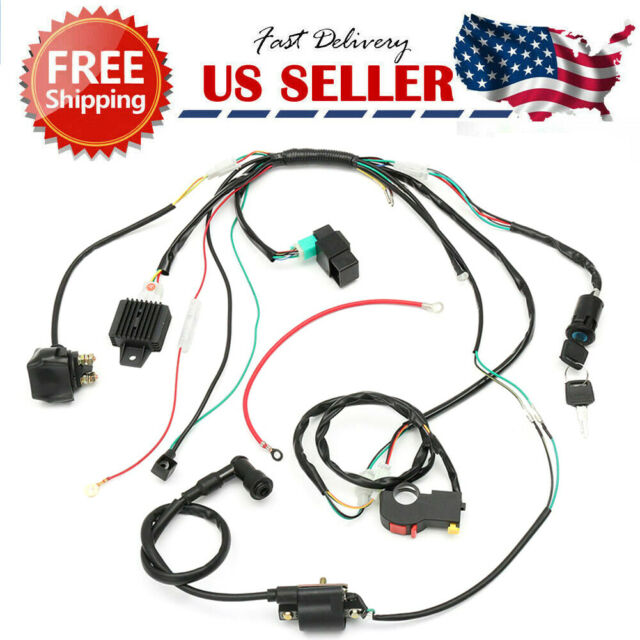 50 70 90cc 110cc 125cc Wiring Harness Loom Solenoid Coil CDI Quad Dirt Bike  ATV for sale online | eBayeBay