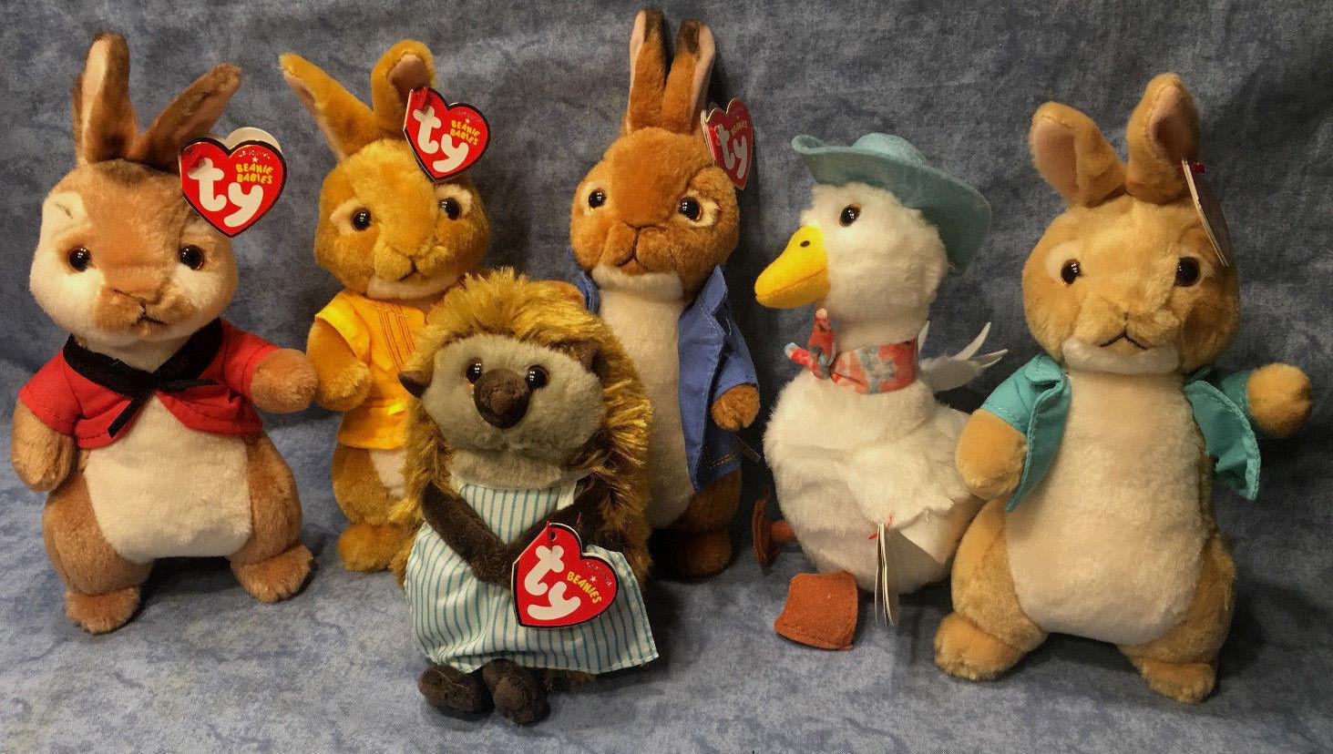 W-f-l TY Peter Rabbit der LEPRE SCELTA TV CINEMA 15 cm Peluche Jemima RICCIO OCA