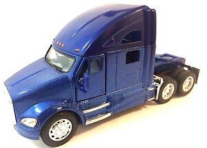 Kinsmart-1-68-scale-Kenworth-T700-tractor-Truck-Cab-diecast-model-Pull-Back-Blue