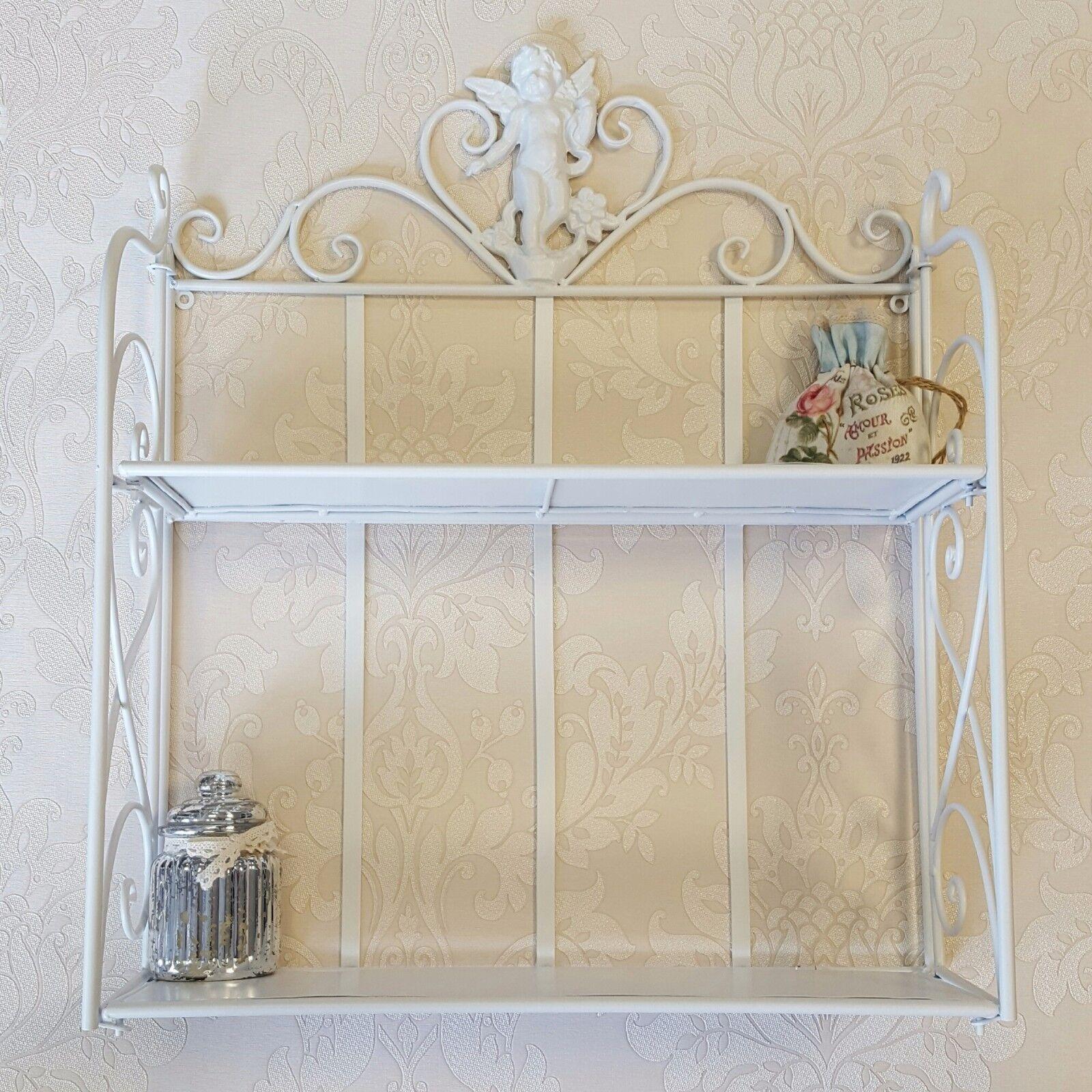 shabby chic shelves vintage wall shelf storage display. Black Bedroom Furniture Sets. Home Design Ideas