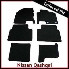 Nissan Qashqai +2 Mk1 2008-2013 a medida Alfombras coche tapetes negro