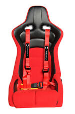 Cipher Auto Racing Harness Set Red 4 Point 2 Pair