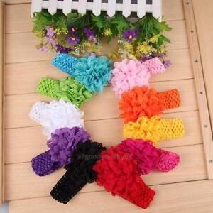 10pcs Baby Toddler Girls Lace Flower Headband Hair Band Accessories Headwear