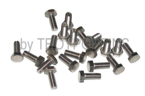 20-SS #10-32 x 1//2 HH HEX HEAD FINE THREAD BOLTS MACHINE SCREWS STAINLESS STEEL