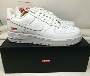 Tumba Decano florero  Supreme x Nike Air Force 1 bajas blancas Talla 11 (lote)   eBay