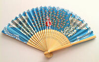Chinese Bamboo Folding Fan Hand Fan With Design Of Peacocks