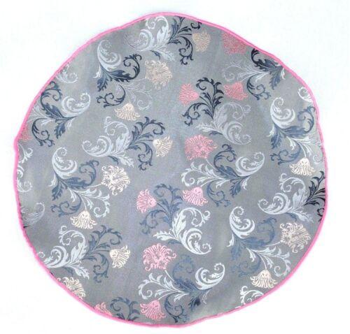 Lord R Colton Masterworks Pocket Round Positano Gray Flora Silk $75 Retail New