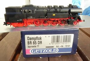 Gutzold-72101-TT-Towing-Tank-Steam-Locomotive-BR-65-1049-9-the-DR-Ep-4-valuable