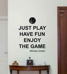 Wonderful Image Is Loading Michael Jordan Quote Wall Decal Basketball Vinyl Sticker