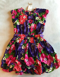 NWT-Gymboree-Girls-5-Falling-For-Feathers-Dress-Watercolor-Flower-Bubble-Floral