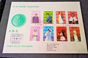 Equatorial Guinea 1978 25th Anniversary of Coronation First Day Cover