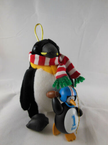 #1 Dad Football Penguin & Chosun plush Christmas Ornament