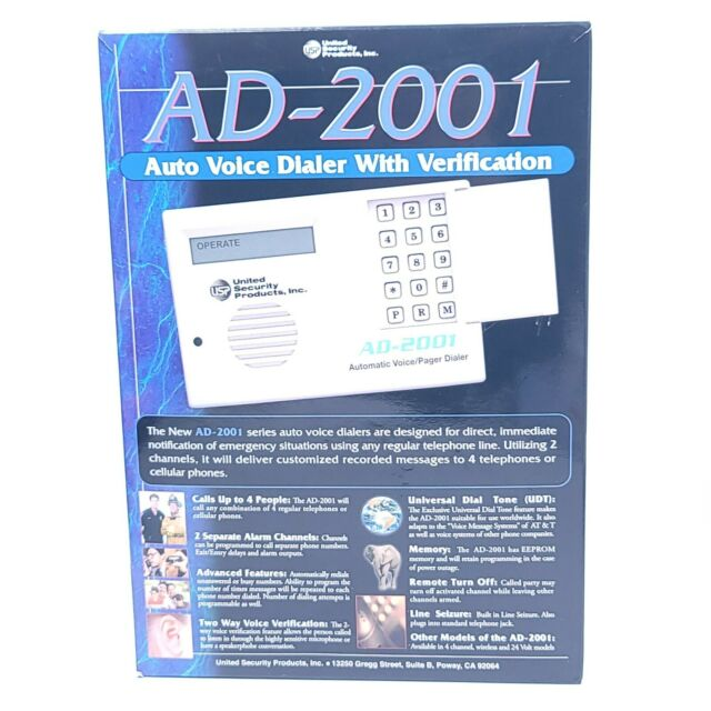 United Security Products Inc Ad2001 Usp Ad 2001 Automatic Voice For Sale Online Ebay