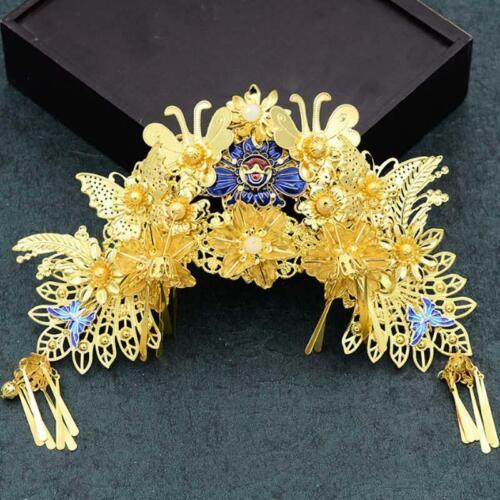 New Retro Chinese Style Bride Wedding Hair Ornaments Headdress+Earrings Set