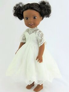 White-Lace-Dress-Fits-Wellie-Wishers-14-5-034-American-Girl-Clothes