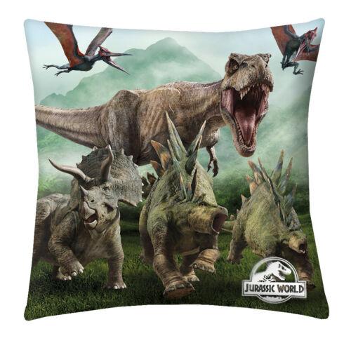 Jurassic World Coussin Dinosaur Dino dinosaure déco 40 cm x 40 cm