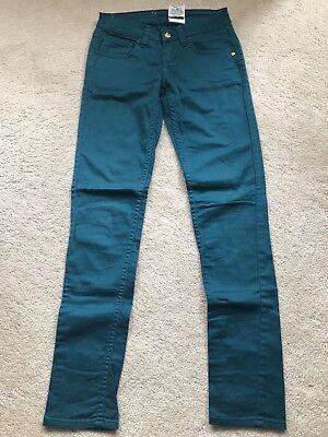 100% Vero Donna Color Foglia Di Tè Verde Genes Jeans-taglia Genes 6- Ricambio Senza Costi A Qualsiasi Costo