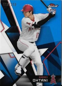 SHOHEI-OHTANI-2018-Topps-Finest-BLUE-REFRACTOR-118-150-ANGELS-RC-True-Rookie