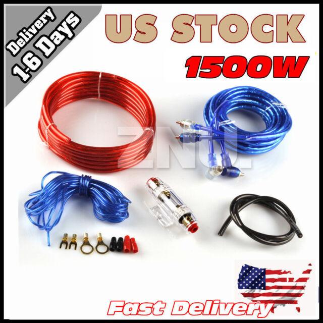 8ga ruse car audio subwoofer sub amplifier amp wiring kit power rh ebay com Home Subwoofer Wiring Kit wiring kit for subwoofer car