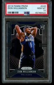 2019-20-Panini-Prizm-Zion-Williamson-Rookie-248-PSA-10-Gem-Mint-RC-Pelicans