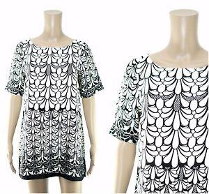 RIVER-ISLAND-Dress-River-Island-Monochrome-Print-Tunic-Dress