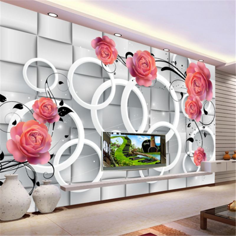 3D rot Flower Ring 733 Wallpaper Mural Paper Wall Print Wallpaper Murals UK