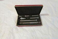Starrett Tubular Inside Micrometer Set No 823az 1 12 8 In Good Condition