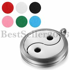 Tai Chi Yin Yang Bagua Essential Oil Diffuser Perfume Necklace Locket Pendant