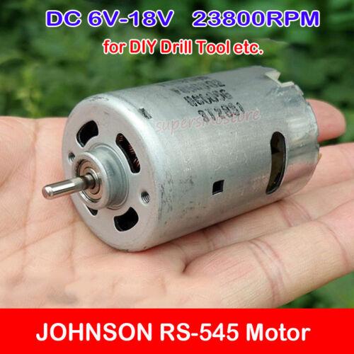 DC 6V-18V 23800RPM High Speed JOHNSON 545 Motor Large Torque DIY Electric Drill