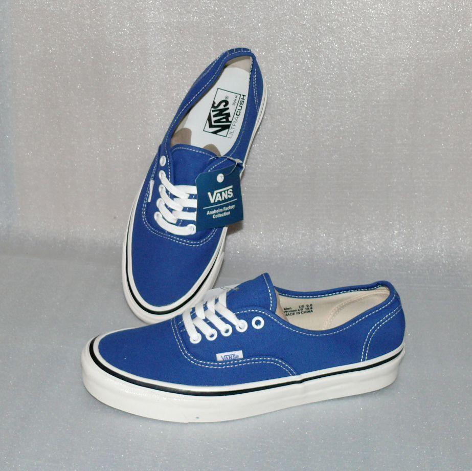 Vans Authentic 44DX Canvas Herren Schuhe Freizeit Sneaker 42 US9 DT013 Blau Weiß