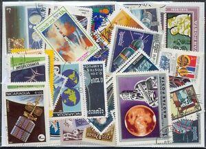 250 verschiedene Briefmarken Weltraum , Raumfahrt , Space