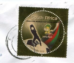 South-Africa-2010-Soccer-World-Cup-used-Stamp-on-envelope
