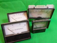 Lot Of 5 Various Dc Voltamp Gauges