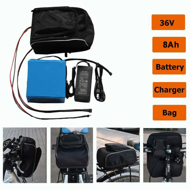 8AH 36V  Removable Lithium Battery + Charger Li-ion  For Electric  EBike Bicycle  not to be missed!