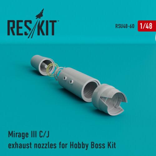 Mirage III C//J  exhaust nozzles for Hobby Boss Kit 1//48 ResKit RSU48-0060
