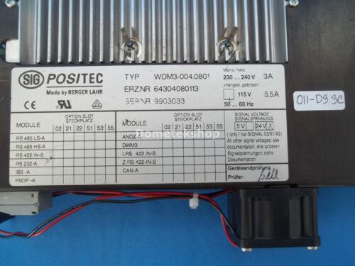 Berger Lahr WDM3-004.0801 SIG POSITEC WDM30040801