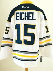 outlet store 8b089 346d7 Details about Jack Eichel #15 Stitched Buffalo Sabres Reebok White NHL  Jersey Size 3XL